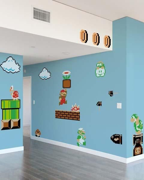 Merveilleux Blik Super Mario Bros Re Stik Wall Decals