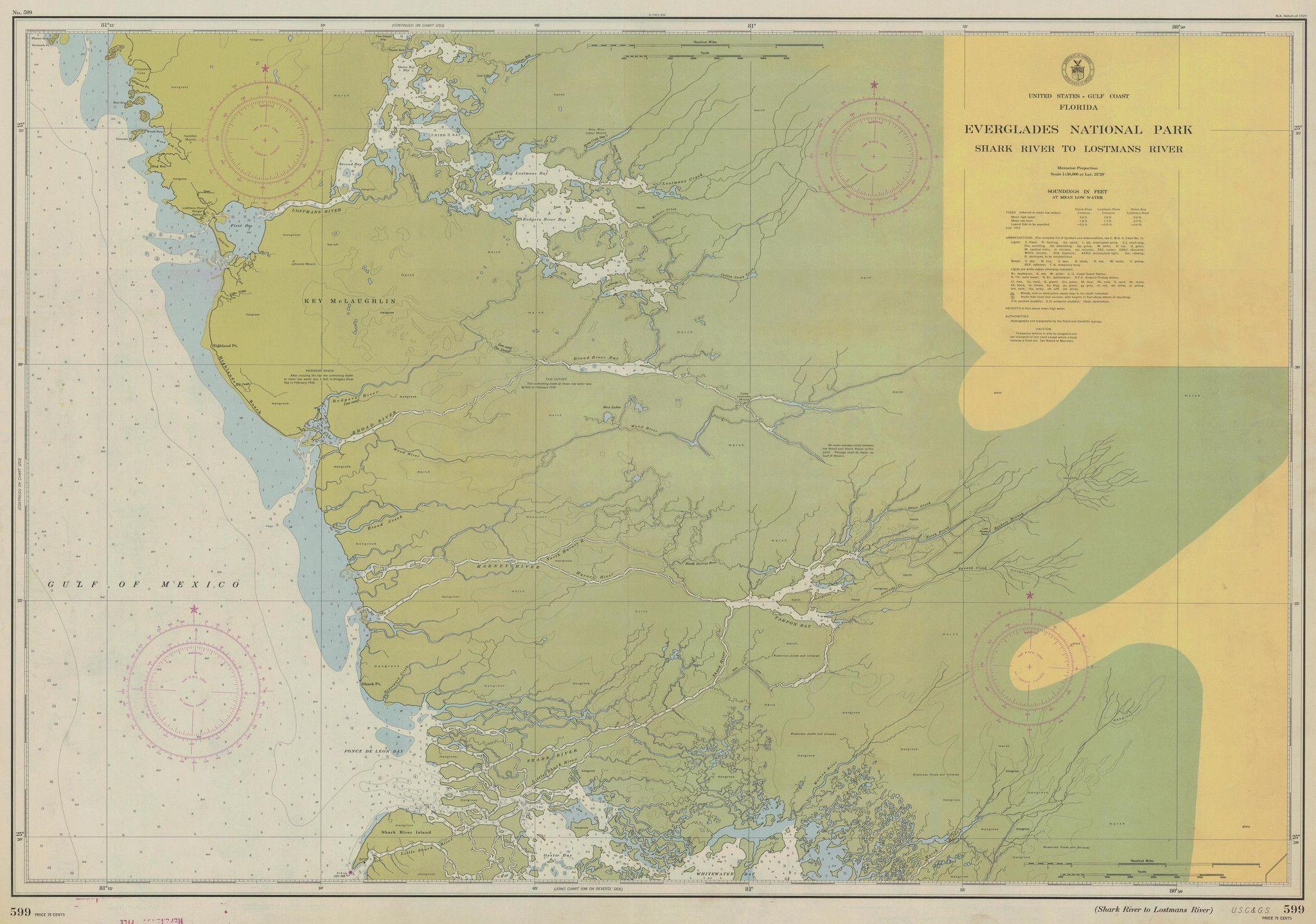 Everglades National Park Historical Map Everglades - Everglades on us map