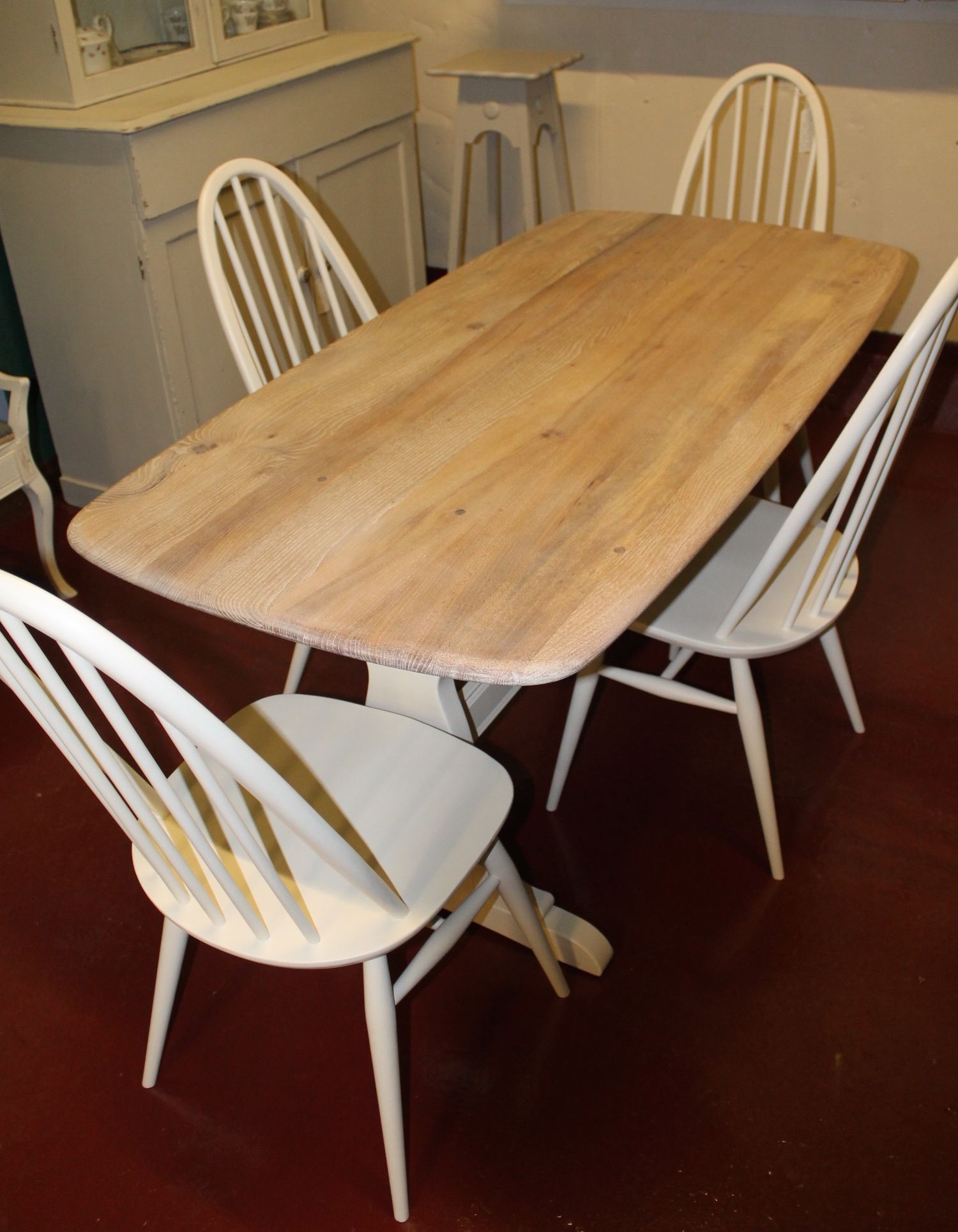 Ercol Dining Table and Four Chairs £365 00 Ercol
