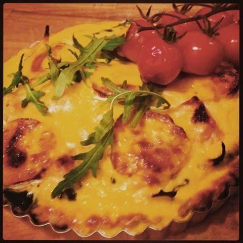 Mine matskriblerier: Vårlig pai med spinat og laks