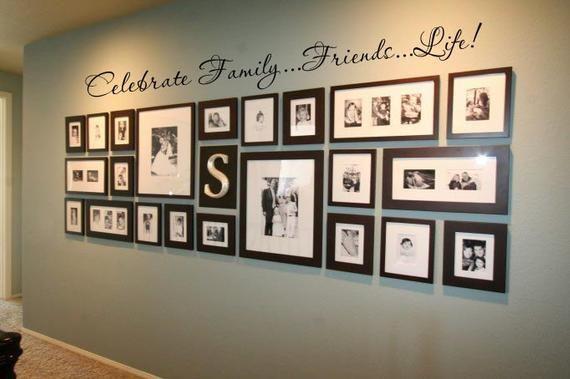 Familie zu feiern…Freunde…72 X 8 Vinyl Aufkleber Wand Lebenskunst Schriftzug Aufkleber