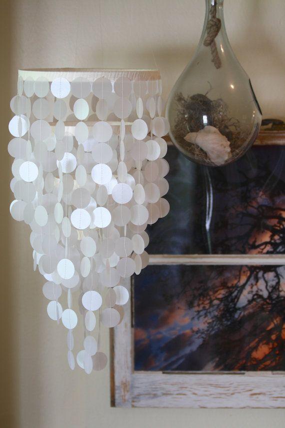 Capiz shell lookalike mobile chandelier Weddings nurseries – Like a Chandelier