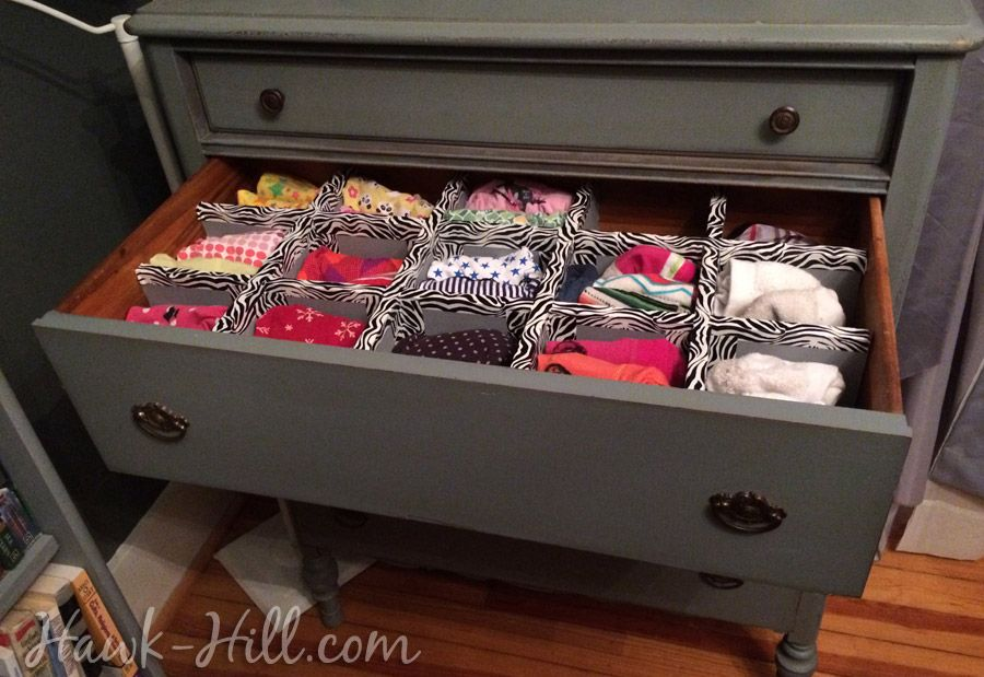 Lovely How To Make Durable Drawer Dividers For Pennies: Hawk Hill.com   Lingere  Drawer In Vintage Dresser
