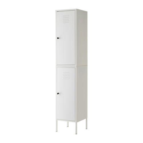 IKEA PS Kaappi IKEA Lukon ansiosta tärkeät tavarat ovat hyvässä tallessa. Siirrettävien hyllylevyjen ansiosta hyllyvälejä voi säätää tarpeen mukaan.