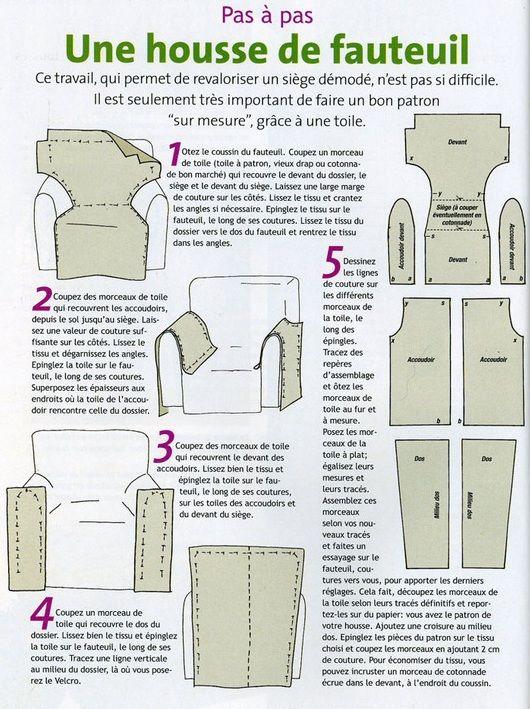 DIY Housse de fauteuil Couture Pinterest Fauteuils, DIY et Housses - Realiser Un Plan De Maison