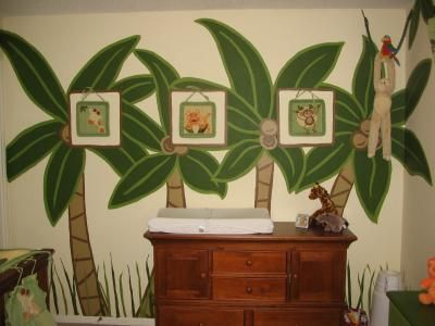 Nojo Palm Trees And Monkeys Nursery Wall Mural Painting Ideas Picture: The Palm  Tree Wall