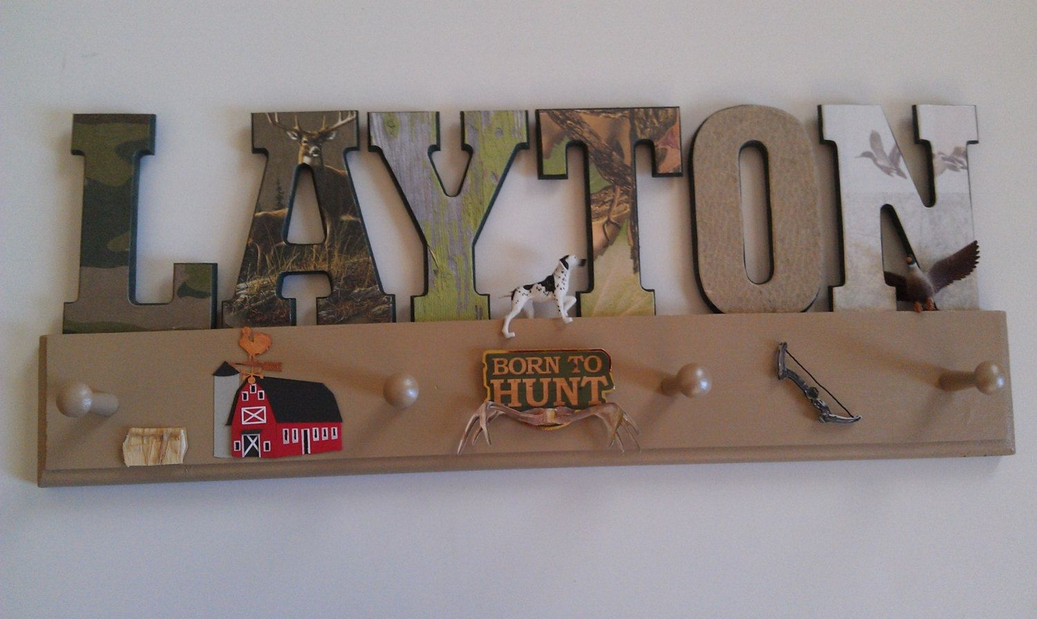 ... Hat/Coat Rack-Duck/Deer Hunting