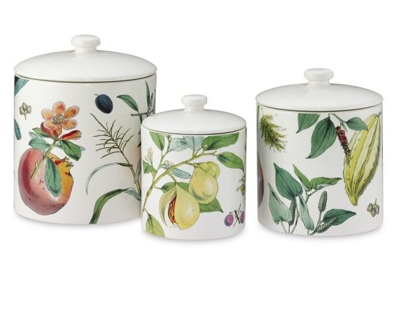 Botanical Canister Williams Sonoma Canisters Williams
