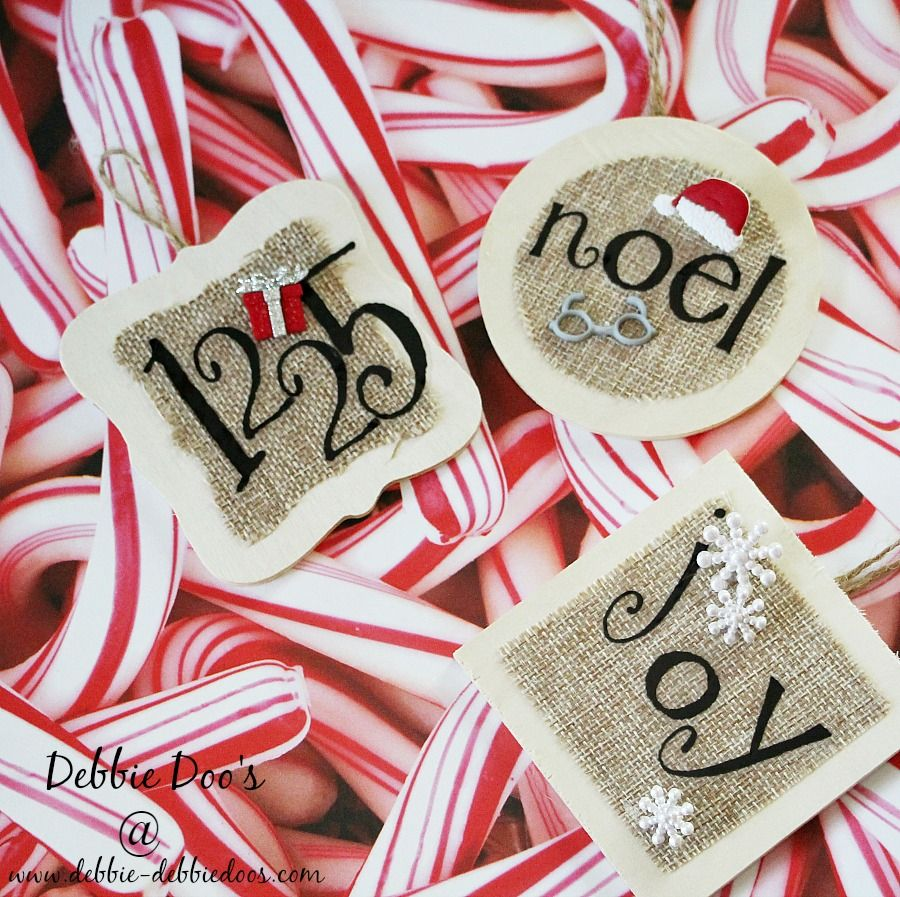 How to make your own Christmas ornaments   Burlap christmas ...