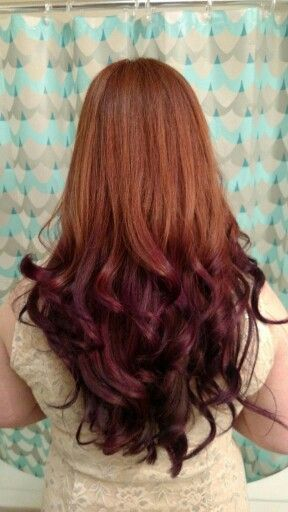 Www Facebook Com Samposnerhair Natural Red To Purple Reverse Ombre