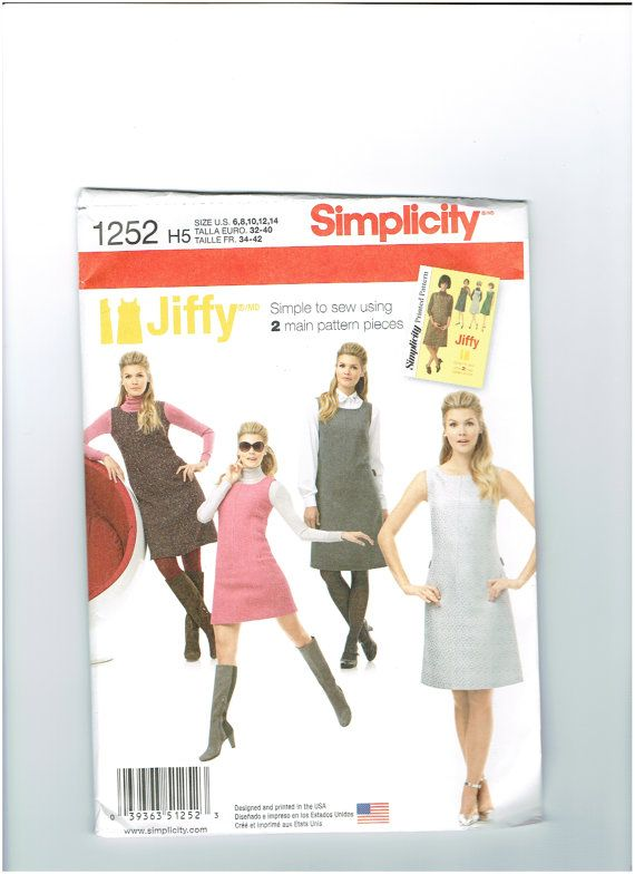 Retro Sewing Pattern/ Jumper/ Simplicity 1252/ Misses/ by SewGirle ...