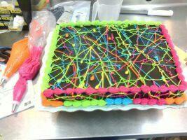 Neon Sheet Cake Cakes I want to make Google Search Pinterest
