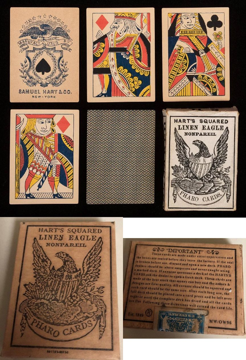 An awesome set of old west pharo cards antique playing