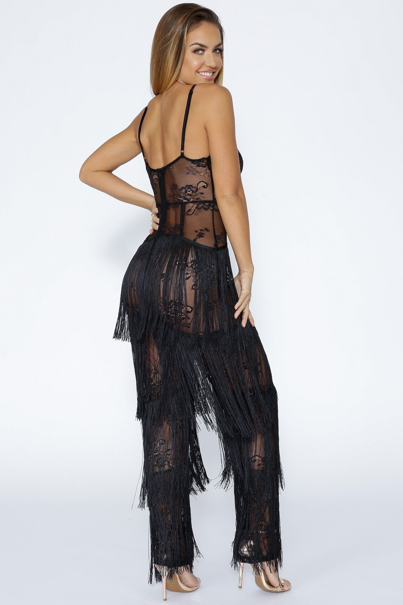 9b76bd27f Dreaming Tassel Lace Jumpsuit Lace Jumpsuit, Cute Rompers, Playsuit,  Tassels, Cute Short