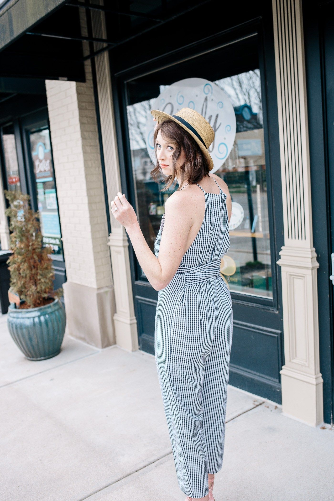 Check mate gingham outfit fashion inspo simple style