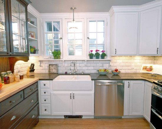 Marvelous Modern Kitchen In Airy And Fresh Appearance Astonishing FHT Remodel Ideas Using White Painted Cabinetry Tile B