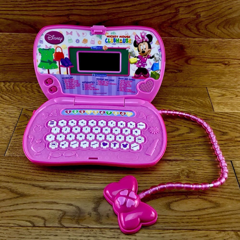 05bd4f65c26a Disney Mickey Minnie Mouse Clubhouse Computer Kids Clementoni Laptop +  Mouse VGC