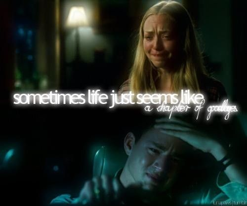 Quotes Nicholas Sparks Dear John: Sometimes Life Just Seems Like Chapters Of Goodbyes
