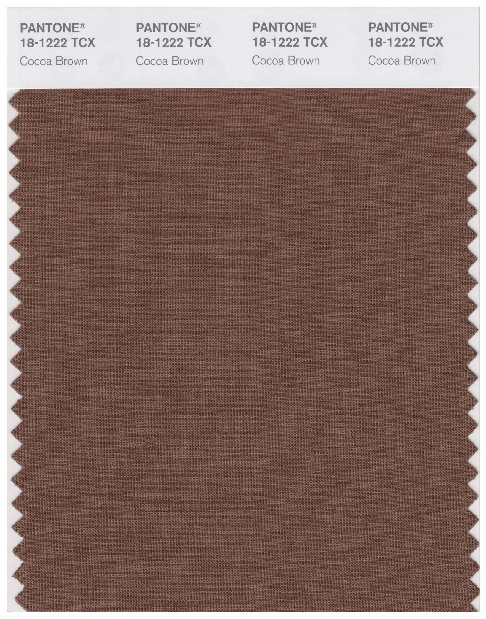 Pantone Smart 18 1222 Tcx Color Swatch Card Cocoa Brown Pantone Color Swatch Cocoa Brown