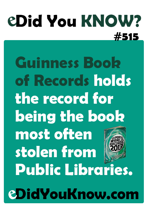 guinness book of records holds the record for being the book most