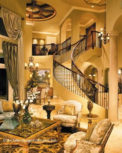 51 Stunning Staircase Design Ideas: Gorgeous Staircase In Sater Design's Dauphino Home Plan