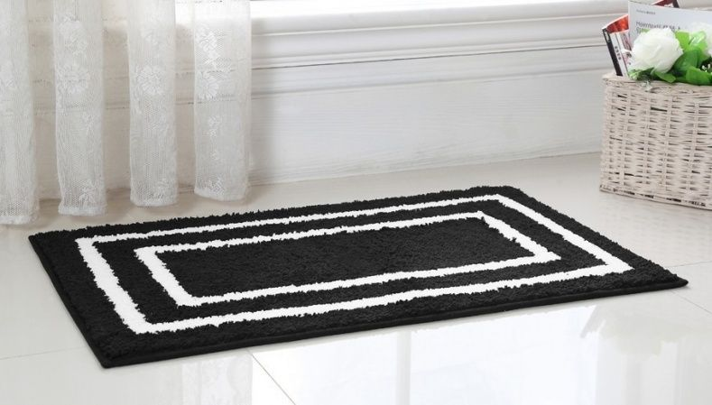 Black And White Bath Rug  Rugs Gallery  Pinterest  Bath Rugs Brilliant Black And White Bathroom Rugs Design Decoration