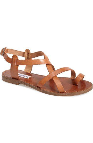 Steve Madden 'Agathist' Leather Ankle Strap Sandal (Women