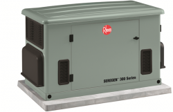 Rheem Is Proud To Offer The Seregen 300 Series 20kw Home Generator System B Water Heater Installation Air Conditioning Companies Heating And Air Conditioning