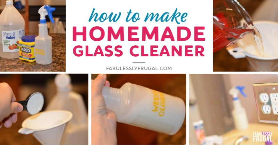 How To Make Homemade Glass Cleaner That Works Homemade Glass