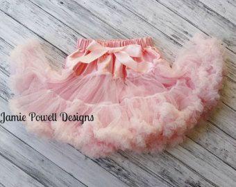 Girls Deluxe Ruffle Skirt- Baby Skirt- Toddler Skirt- Girls Pink Skirt-Lace Petti- 1st Birthday Outfit- Tutu skirt-Extra Fluffy Skirt