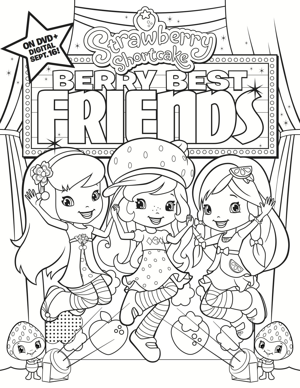 Fox Ss Berry Best Friends Coloring Sheet Giveaway Contests