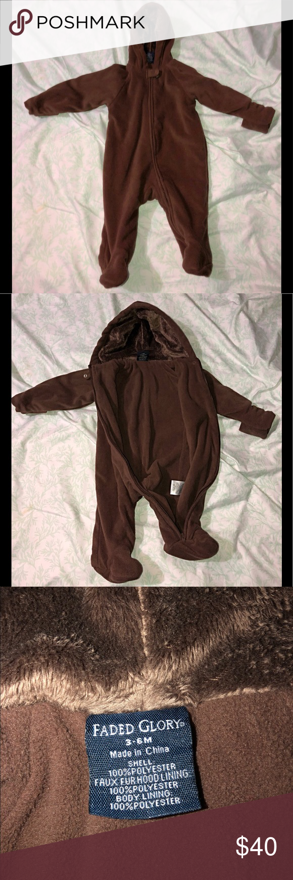 737d67023b46 Warm Material Brown Baby Boy Bear Bunting Make Me Offers! Baby boy ...