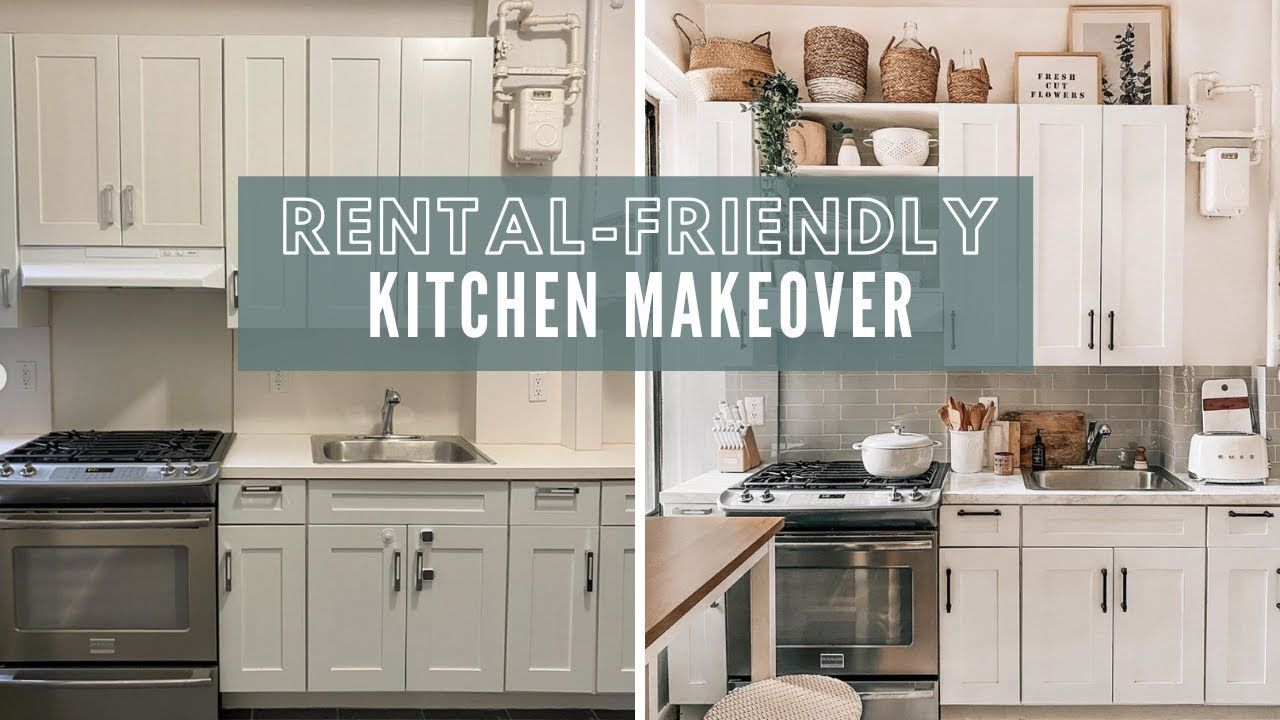 Rental Friendly Kitchen Apartment Makeover Diy Faux Marble