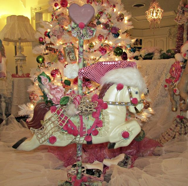 Penny\u0027s Vintage Home Carousel Horse Christmas Tree VISITING - christmas carousel decoration