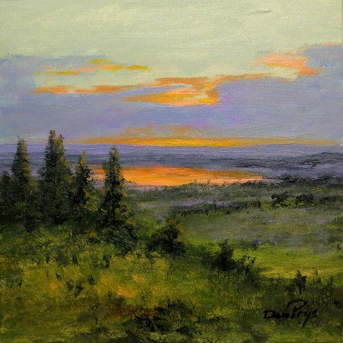 Pineview Lake, Ogden Valley, Utah, 8x8 by Don Prys