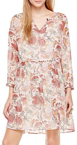 Two By Vince Camuto Lyrical Floral Babydoll Dress