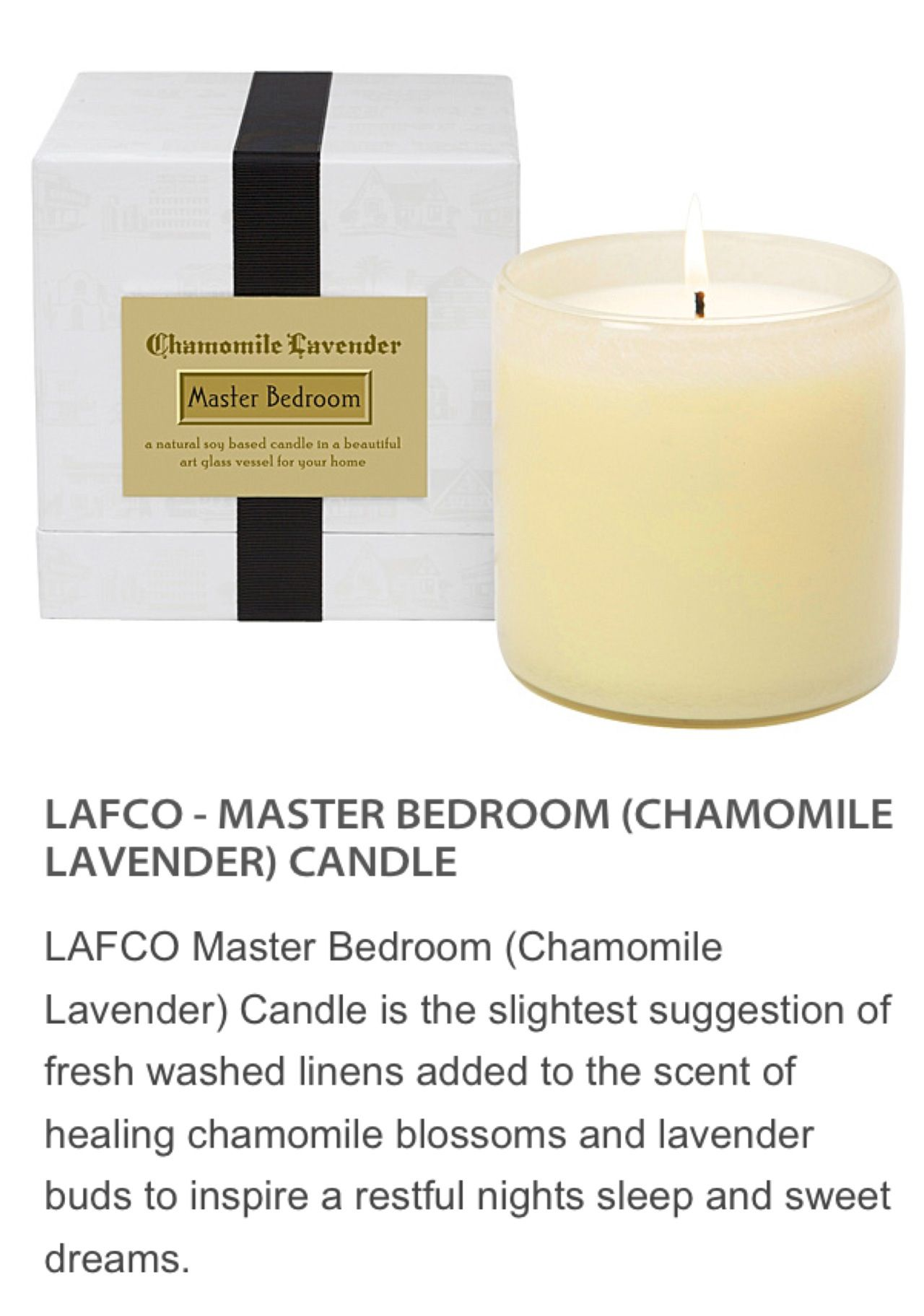 Lafco Master Bedroom Candle - one of our favorites ...