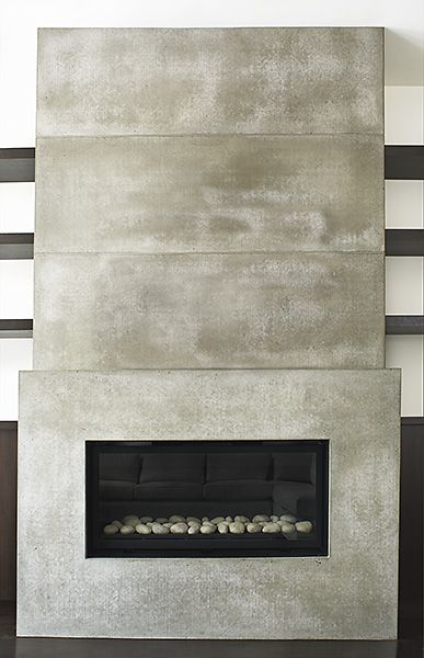 Concrete Tile Fireplace Fireplaces Fireplace Tv Wall Tiles