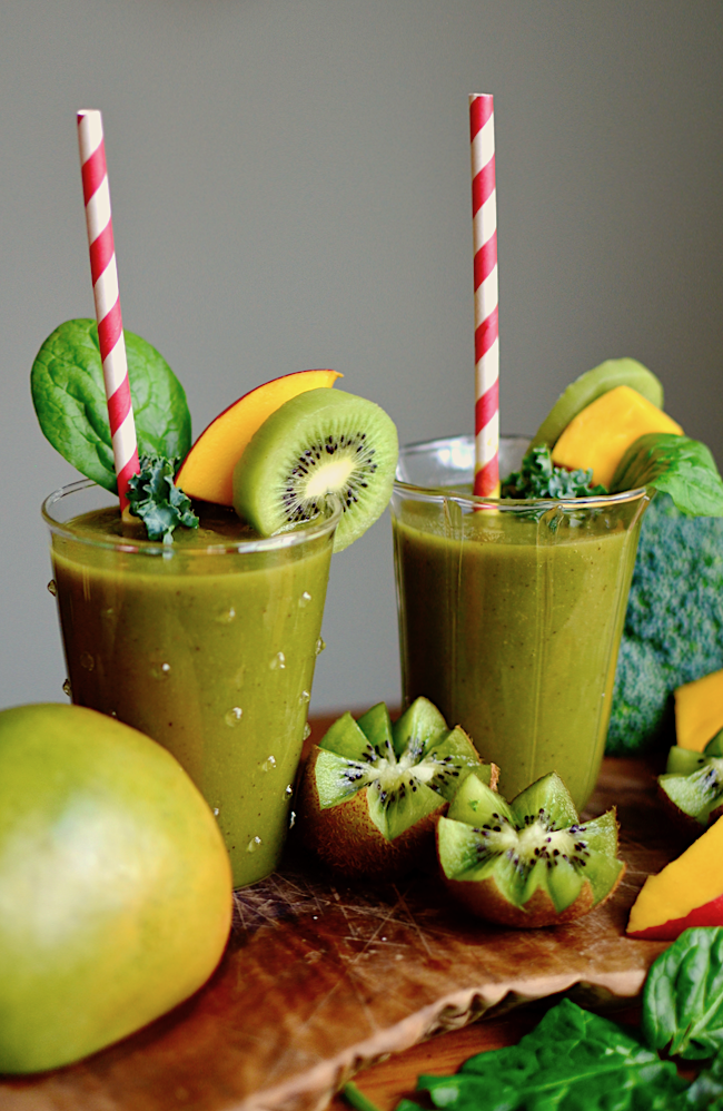 Make your own Naked Juice smoothie for a tiny fraction of the price! It's full of fruits and veggies and tastes AWESOME.