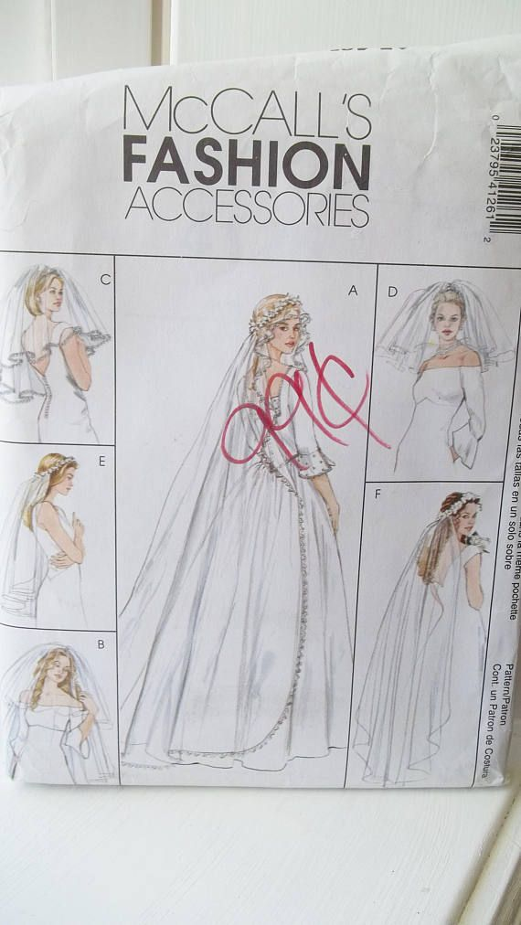 Wedding Veil Sewing Pattern McCall\'s 4126 Fashion Bridal Accessories ...