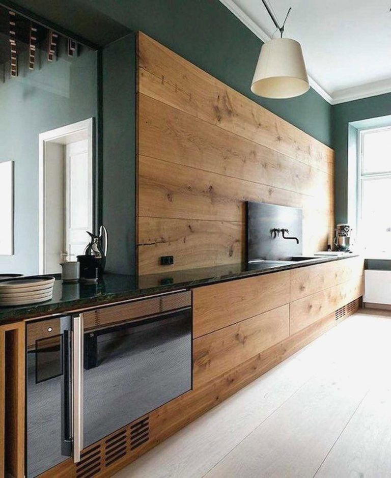 Rustic Kitchen With Wood And Green Kitchen Lawlessdesign
