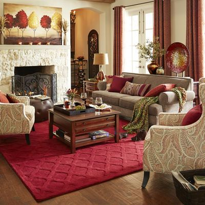 Carmen Sofa Taupe Pier 1 Living Room Red