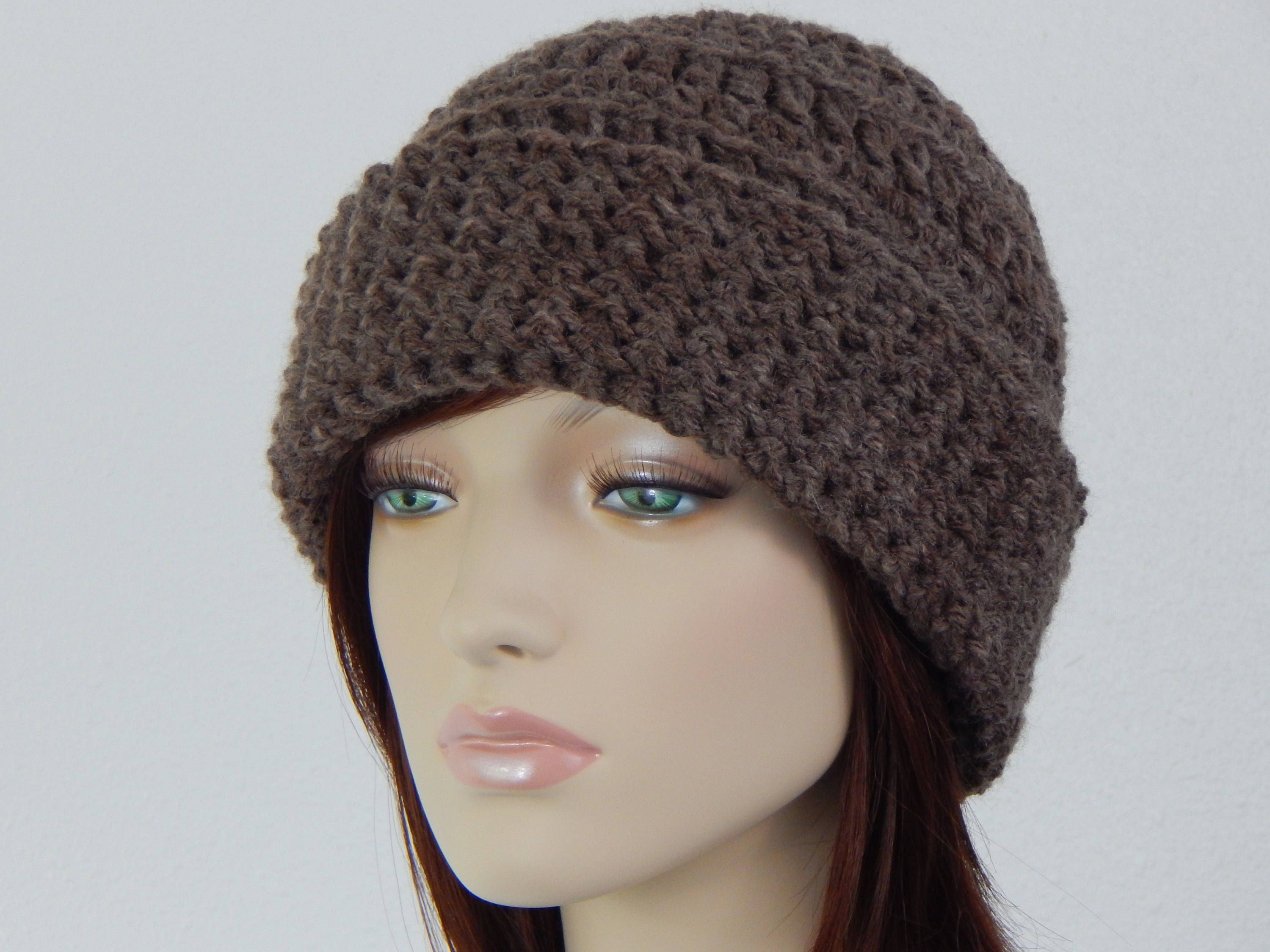Crochet PATTERN PDF, The Nature Lover Beanie, Folded Cuff Hat ...