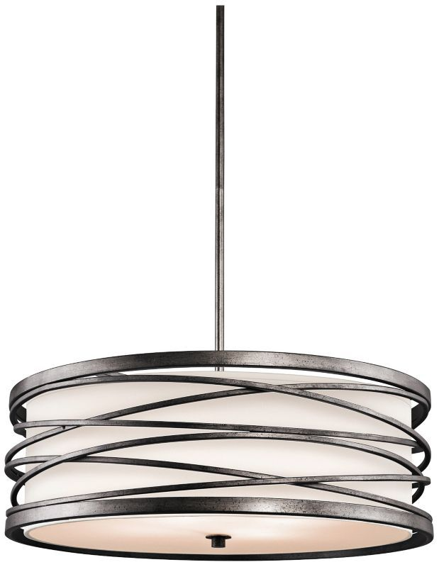 Kichler Krasi Warm Bronze Drum Shade Pendant     Transitional   Pendant  Lighting   Lighting And Locks
