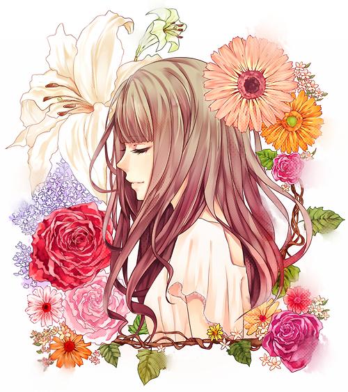 Bouquet若月 葉のイラスト Pixiv 女の子花新着で見れた