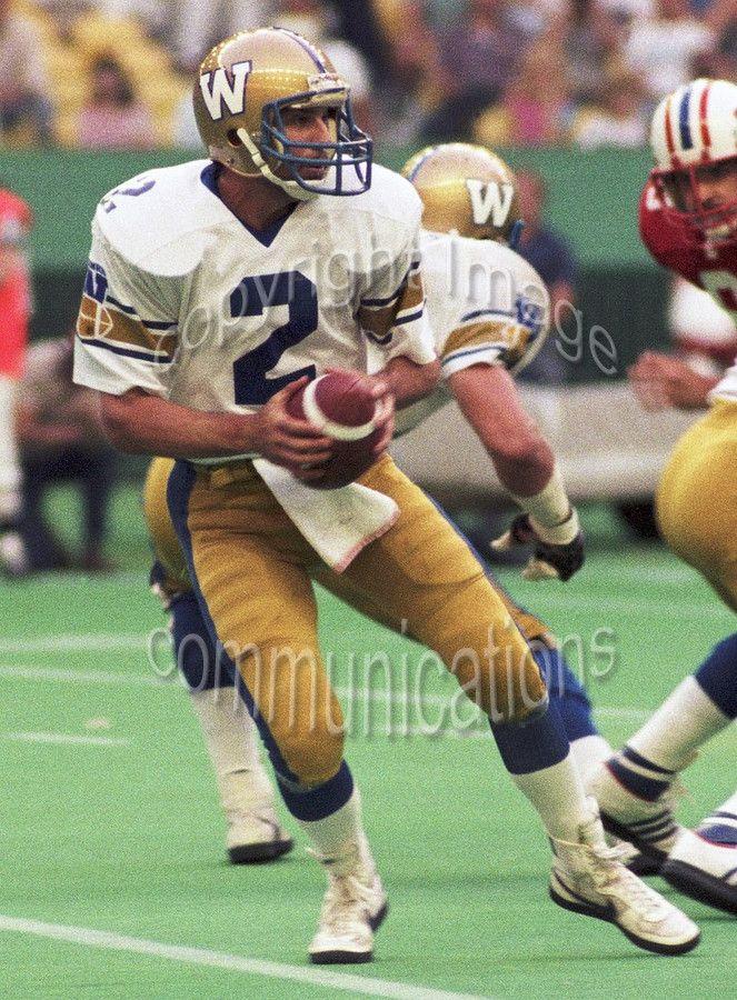 Matt Dunigan 8x10 Color Photo Winnipeg Blue Bombers