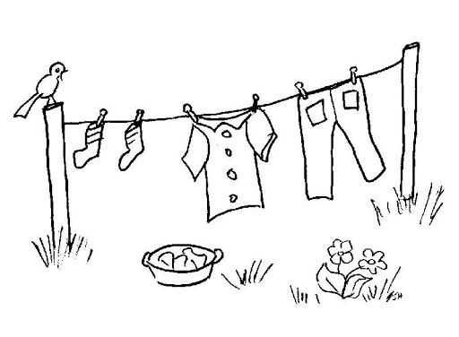Dibujos de ropa tendida para colorear  Imagui  Dibujos para