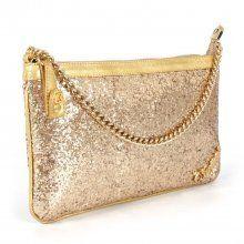 57dd16b04b Bolsa Glitter Dourado Carmen Steffens
