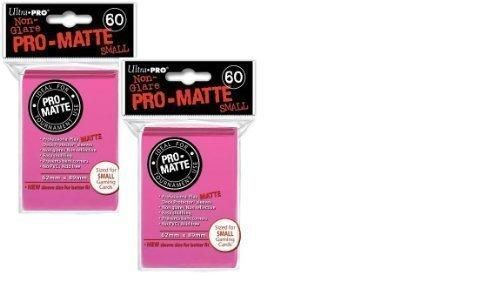60 ULTRA PRO DECK PROTECTOR SMALL YGO PRO-MATTE BRIGHT PINK SLEEVES