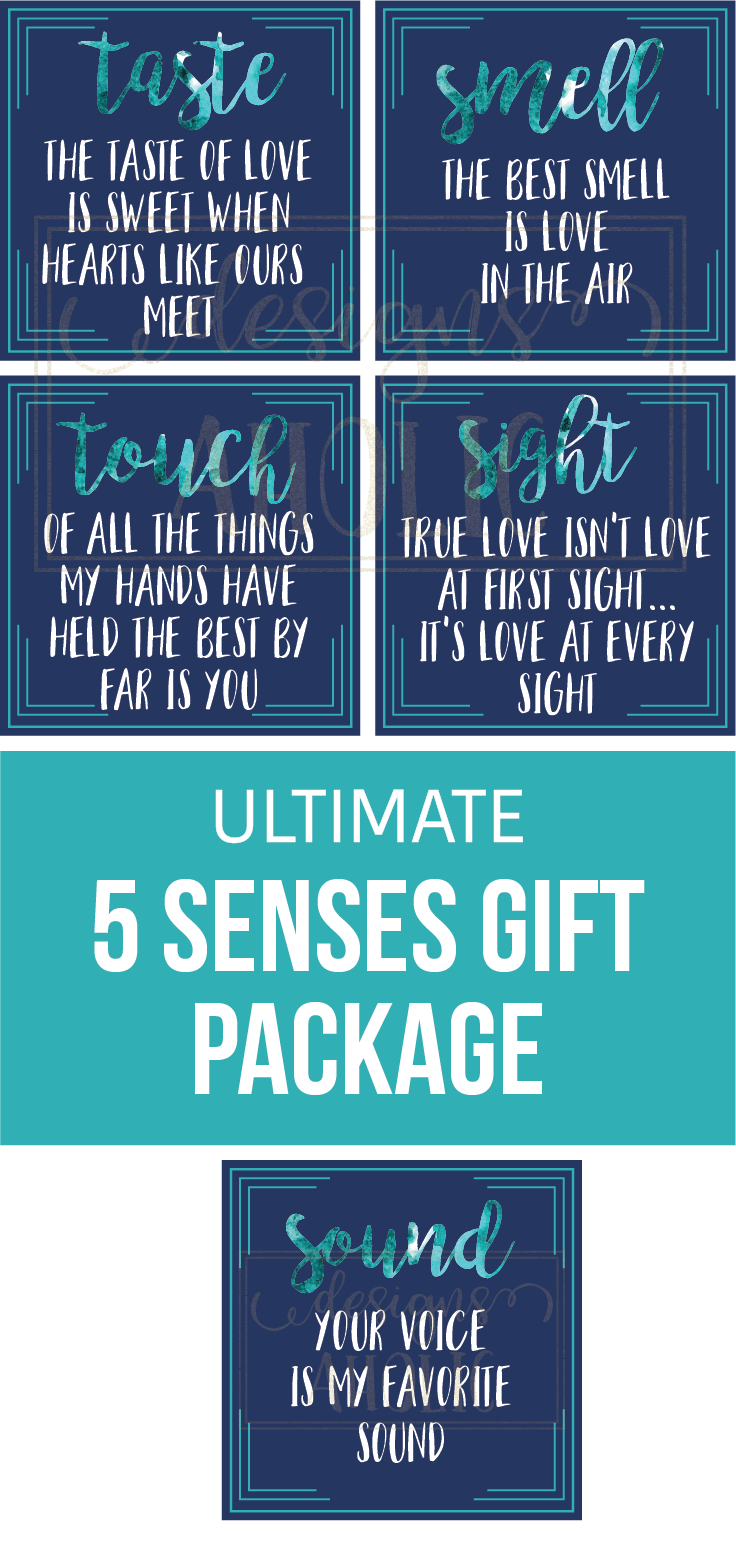 5 Senses Gift Tags Cards Ideas Gift For Boyfriend Girlfriend Husband Or Wife Valentine S Gift Birthday Gift Anniversary Gift In 2021 Five Senses Gift 5 Sense Gift Valentine Gifts For Husband